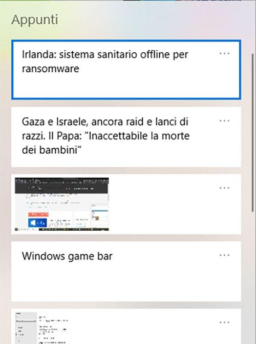 Tasto Windows + V